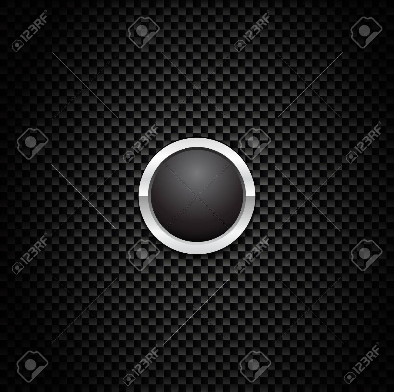 Vector Button on Carbon Fiber Background. Eps10! Stock Vector - 9093400