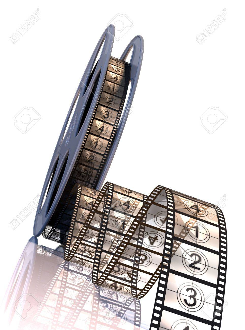 Premiere countdown! High Resolution 3d rendering Stock Photo - 3906851