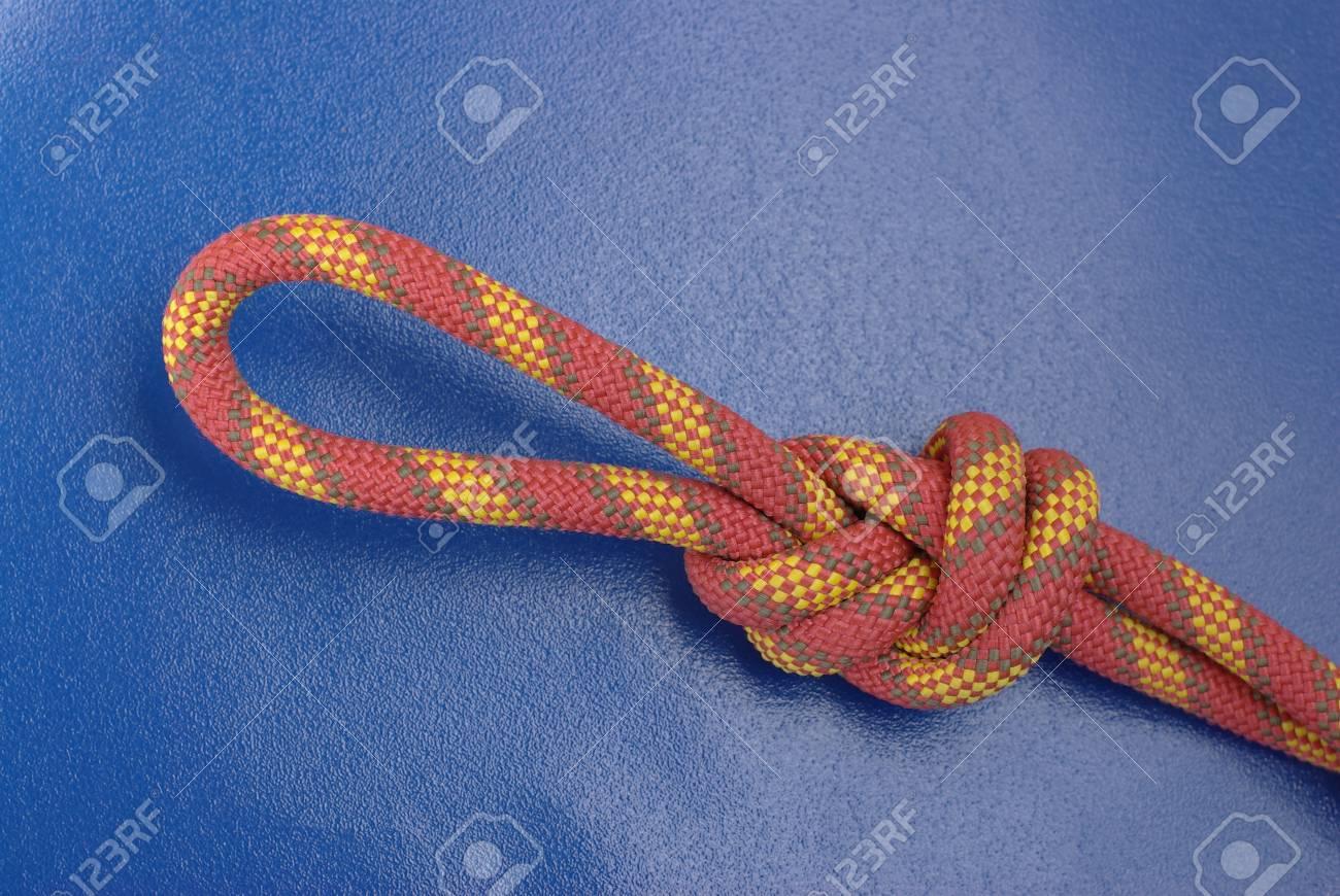 Climbing rope on blue Stock Photo - 8778570