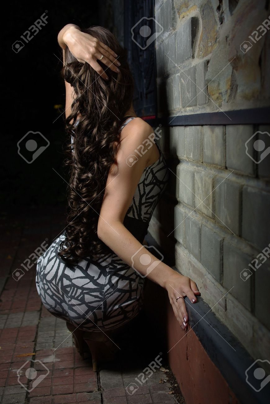 Back of a female with long curly hair Stock Photo - 10340726