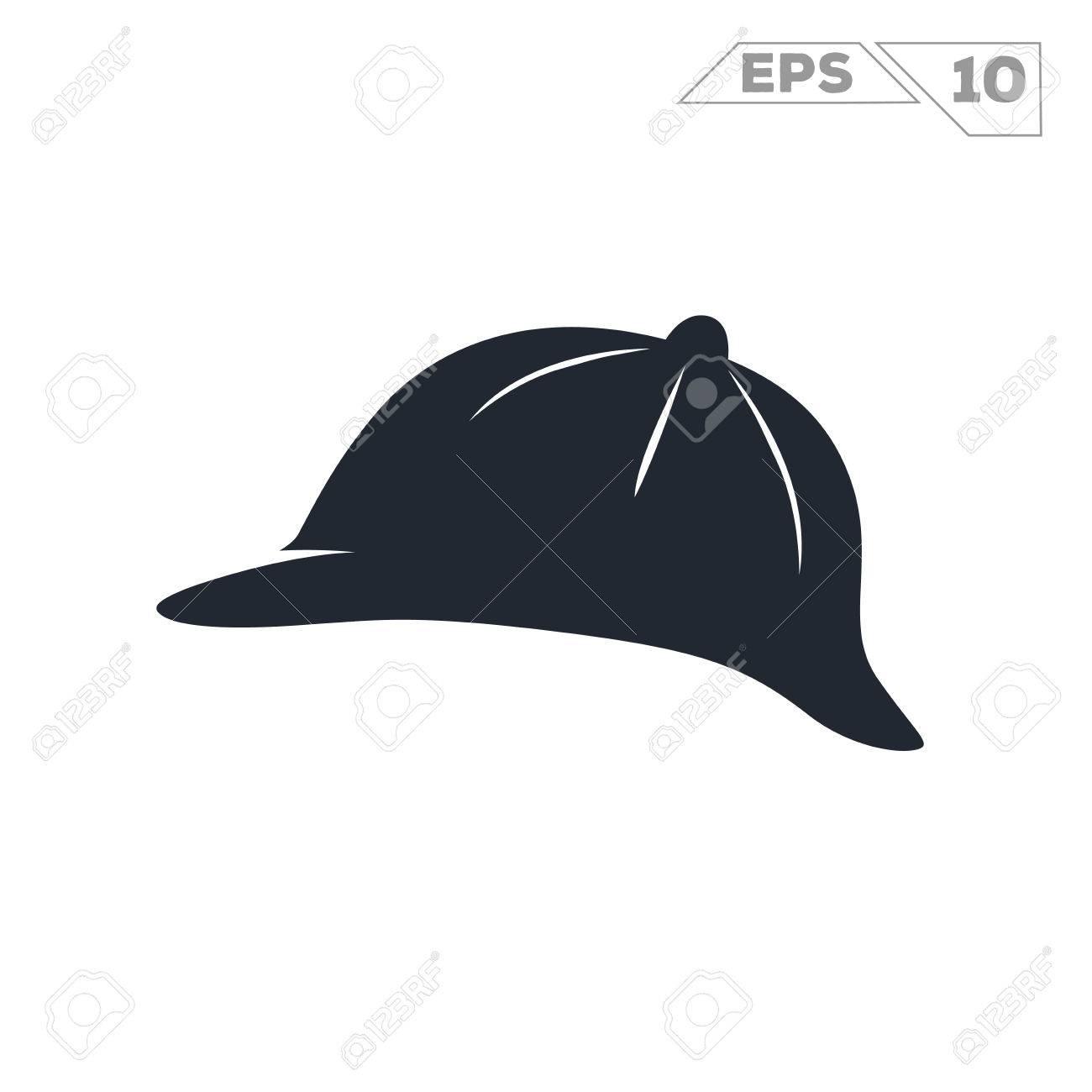 シャーロック ホームズの帽子のシルエット イラスト ベクター