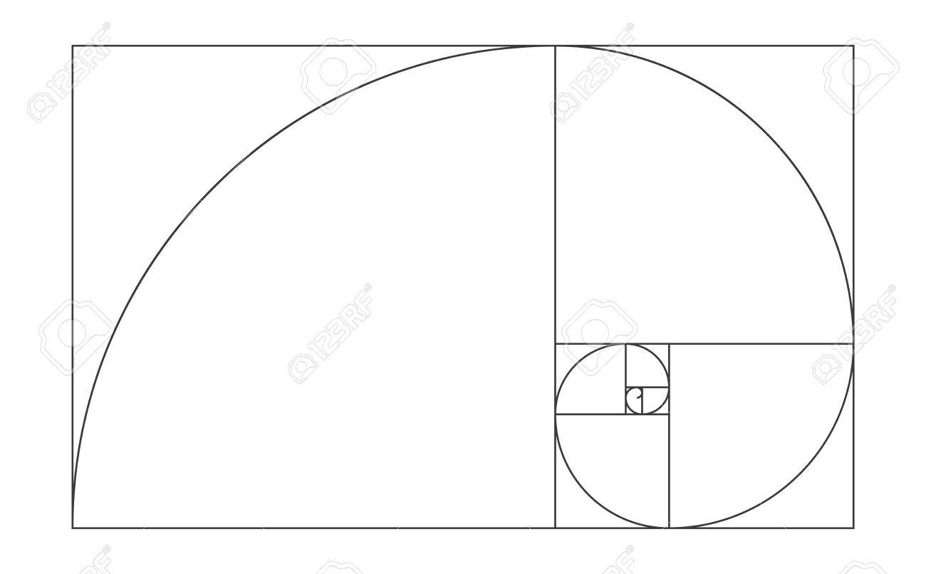 golden ratio template vector illustration fibonacci royalty free rh 123rf com golden ratio vector file golden ratio spiral vector