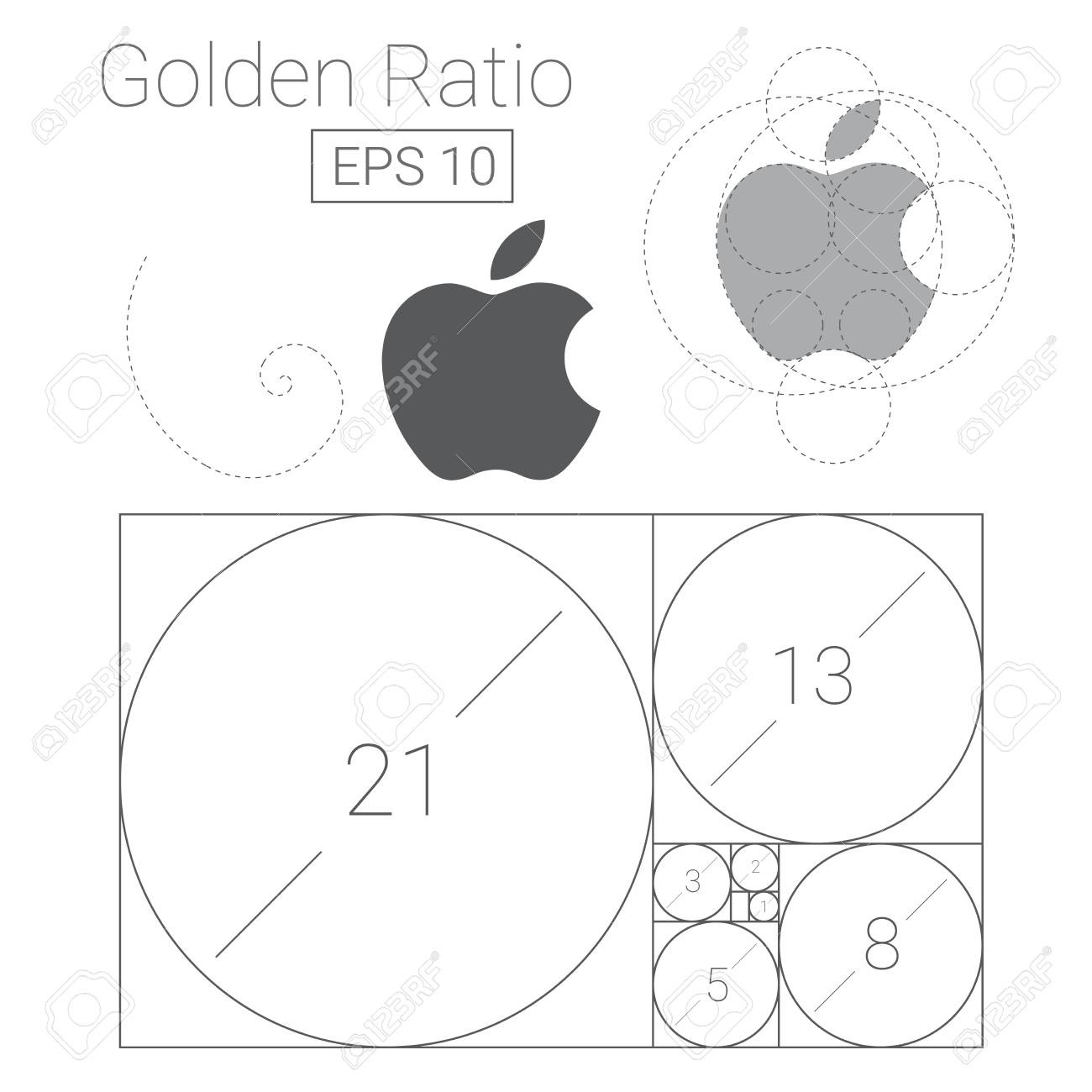 golden ratio template icon royalty free cliparts vectors and stock