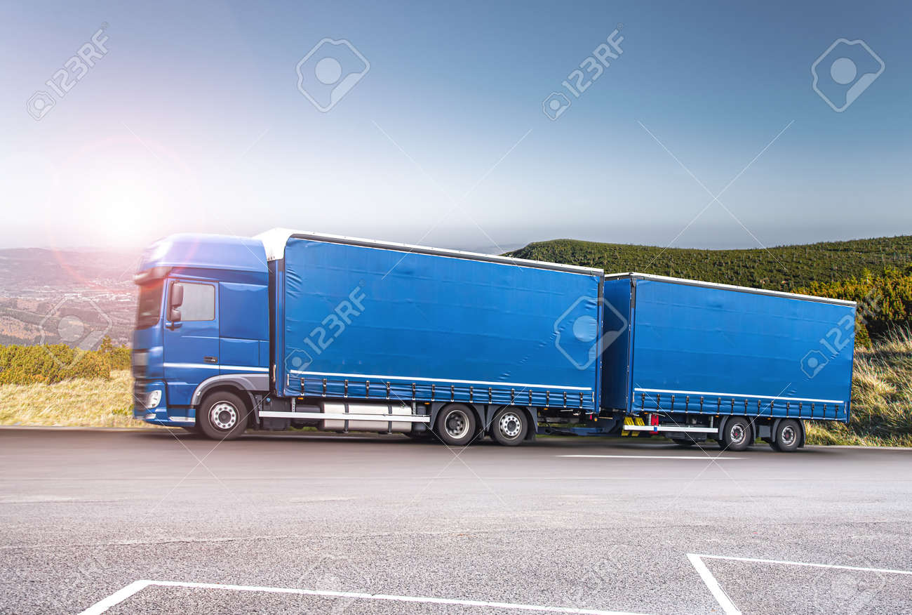 truck on the roads of Europe. Logistics and transportation - 159166531