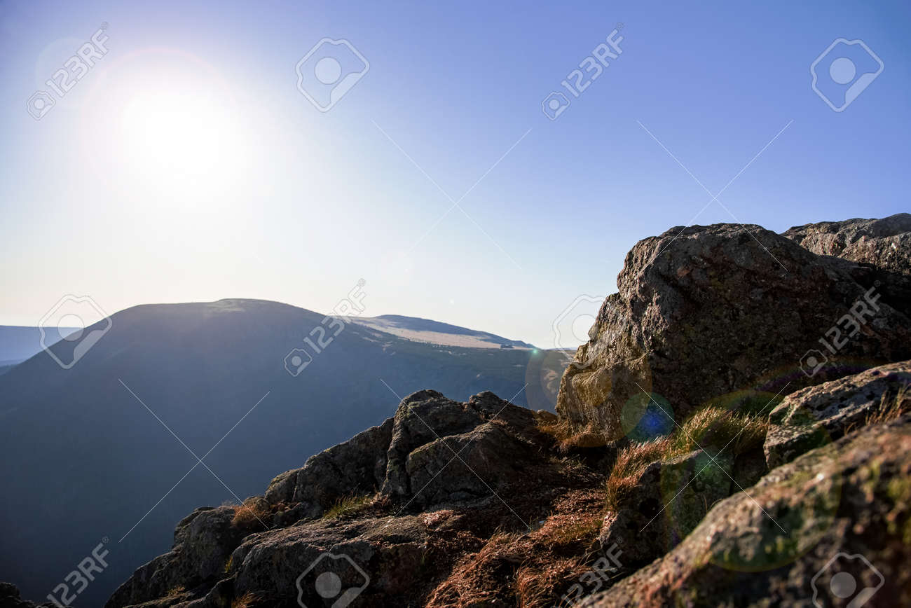 dawn at the top of the mountain - 171824157