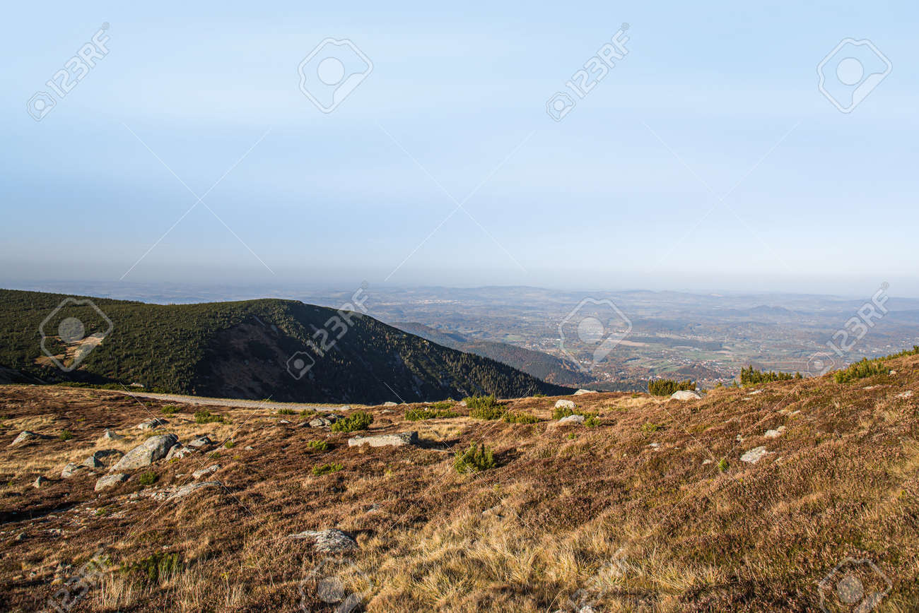 mountain landscape sunlight, clear weather - 171845940