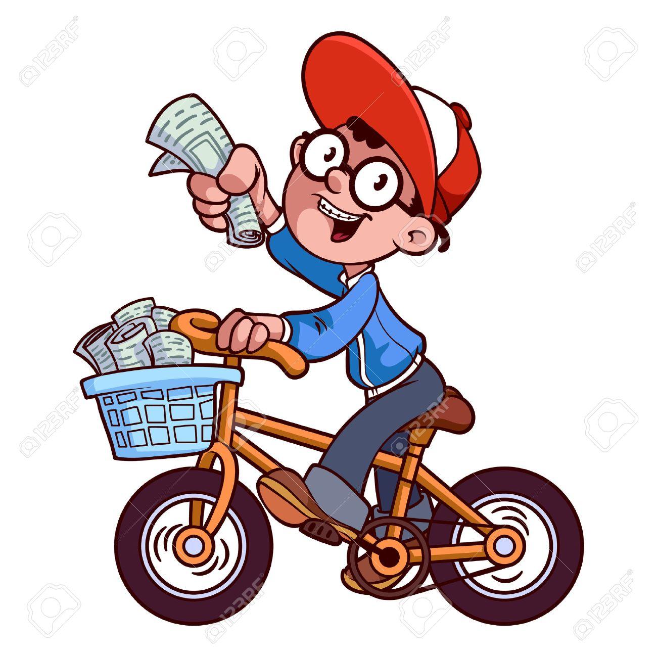 Boy Mail Messenger Cartoon Stock Photo - Image: 33226220