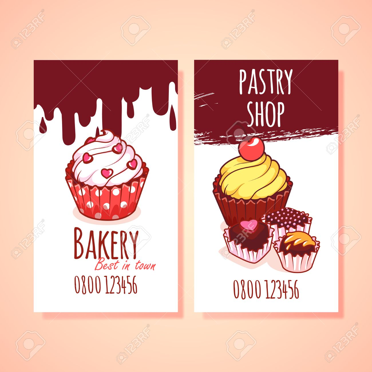 Two vertical business card template for pastry shop clip art two vertical business card template for pastry shop clip art illustration stock vector 49039986 fbccfo Image collections