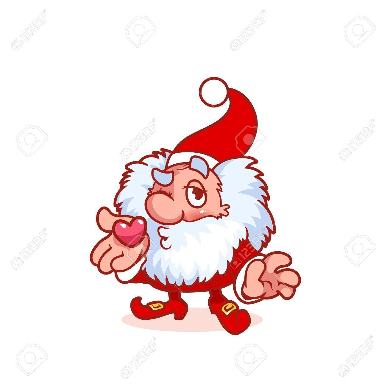 Christmas Gnomes Clipart.Christmas Gnome Funny Cartoon Character Clip Art Illustration