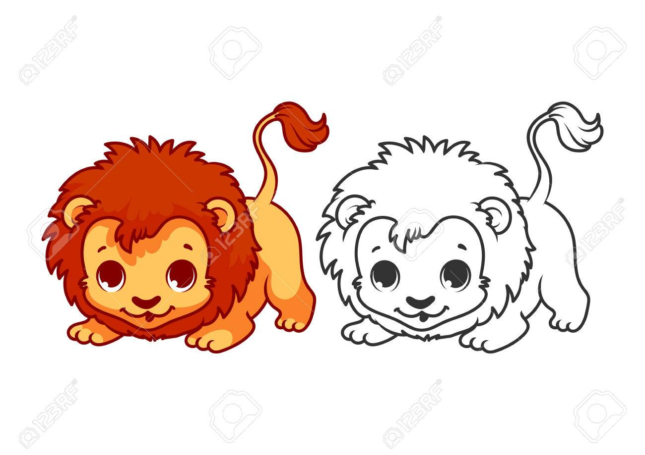 Cute Little Lion Cartoon Vector Character Isolated On A White Royalty Free Cliparts Vectors And Stock Illustration Image 54893631 Cartoon lion elephant stock photos and images. 123rf com