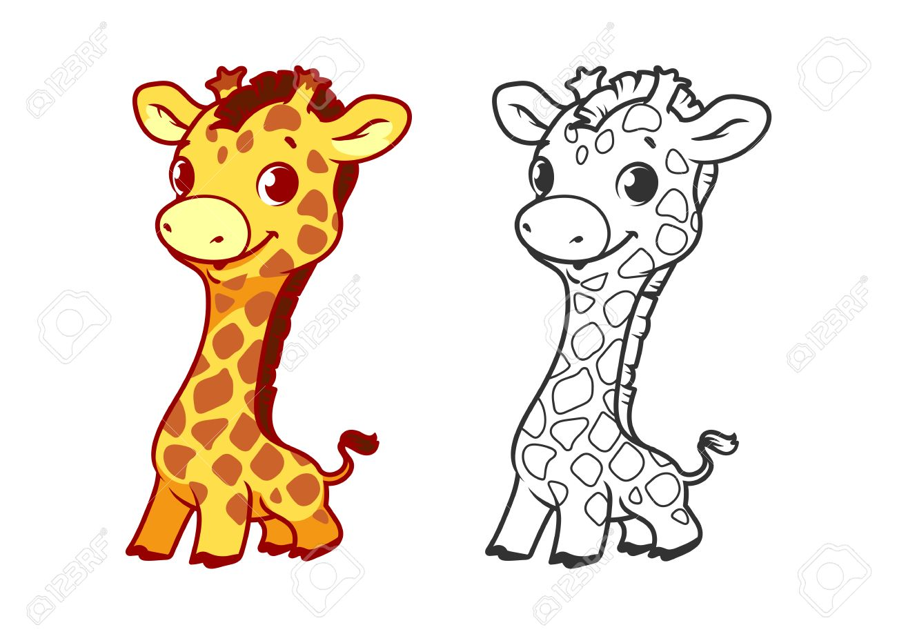 baby giraffe vector art awesome graphic library