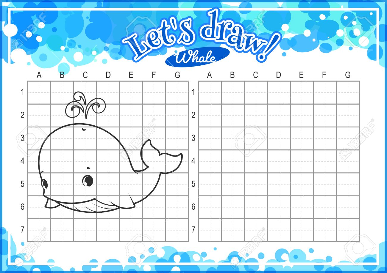 educational game for kids how to draw cute cartoon whale drawing