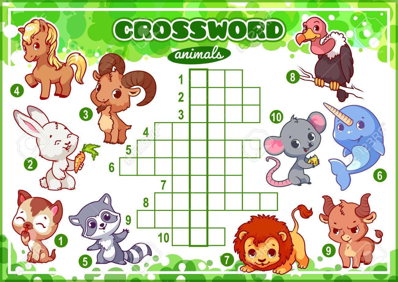 Lernspiel Für Kinder. Wörter Rätsel. Arbeitsblatt Für Die Klasse ...