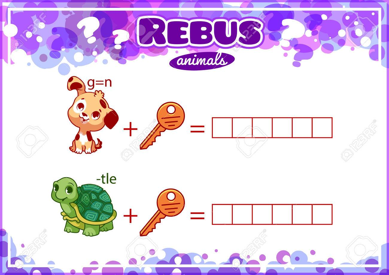 Educational Rebus Spiel Für Kinder. Arbeitsblatt Für Die Klasse Oder ...