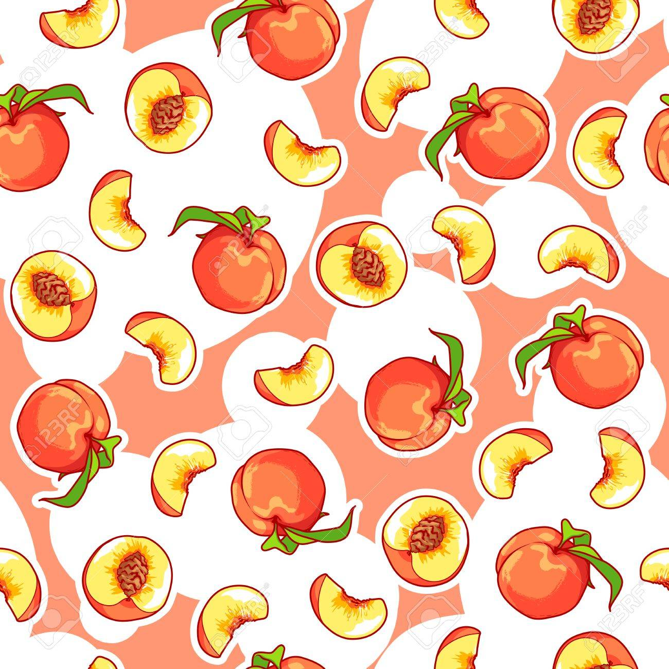 vector seamless pattern with peaches fruit background royalty free cliparts vectors and stock illustration image 59892861 vector seamless pattern with peaches fruit background