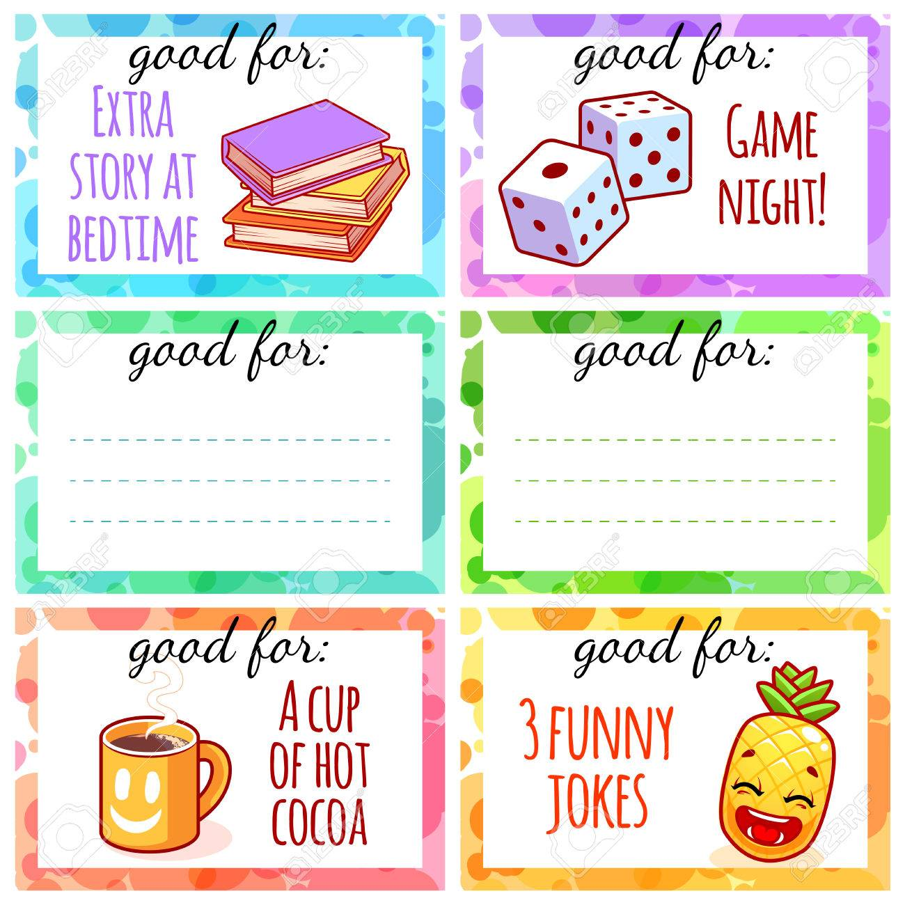 photograph relating to Printable Coupons for Kids named Printable small children discount coupons in the direction of hire as a present. Vector templates isolated..