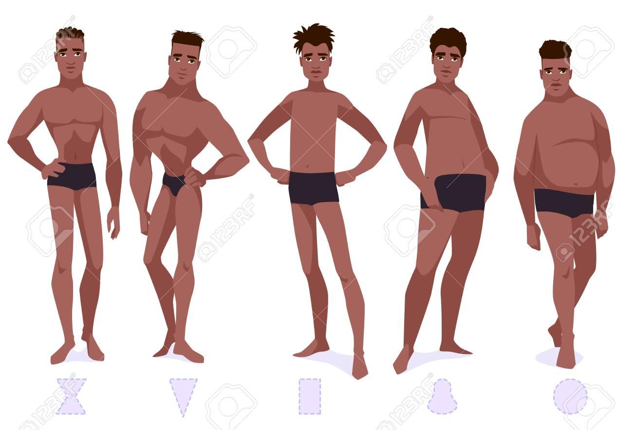8c424161c8 set of male body shape types five types african americam men .