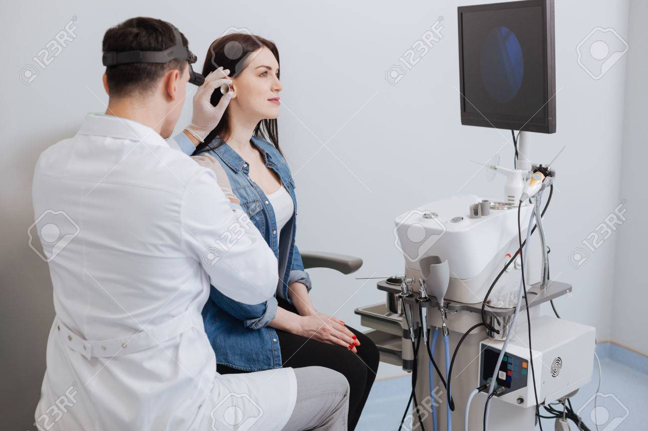 Side View Of Medical Examination Leading Be Ent Specialist Stock Photo Picture And Royalty Free Image Image 76857535