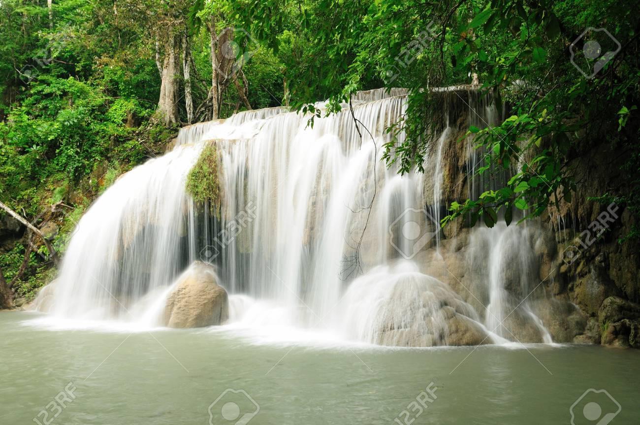 Waterfall in Kanchanaburi, Thailand Stock Photo - 17332071
