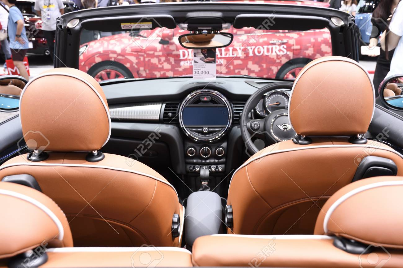 Nonthaburithailand March 30 2018 Inside The New Mini Cooper