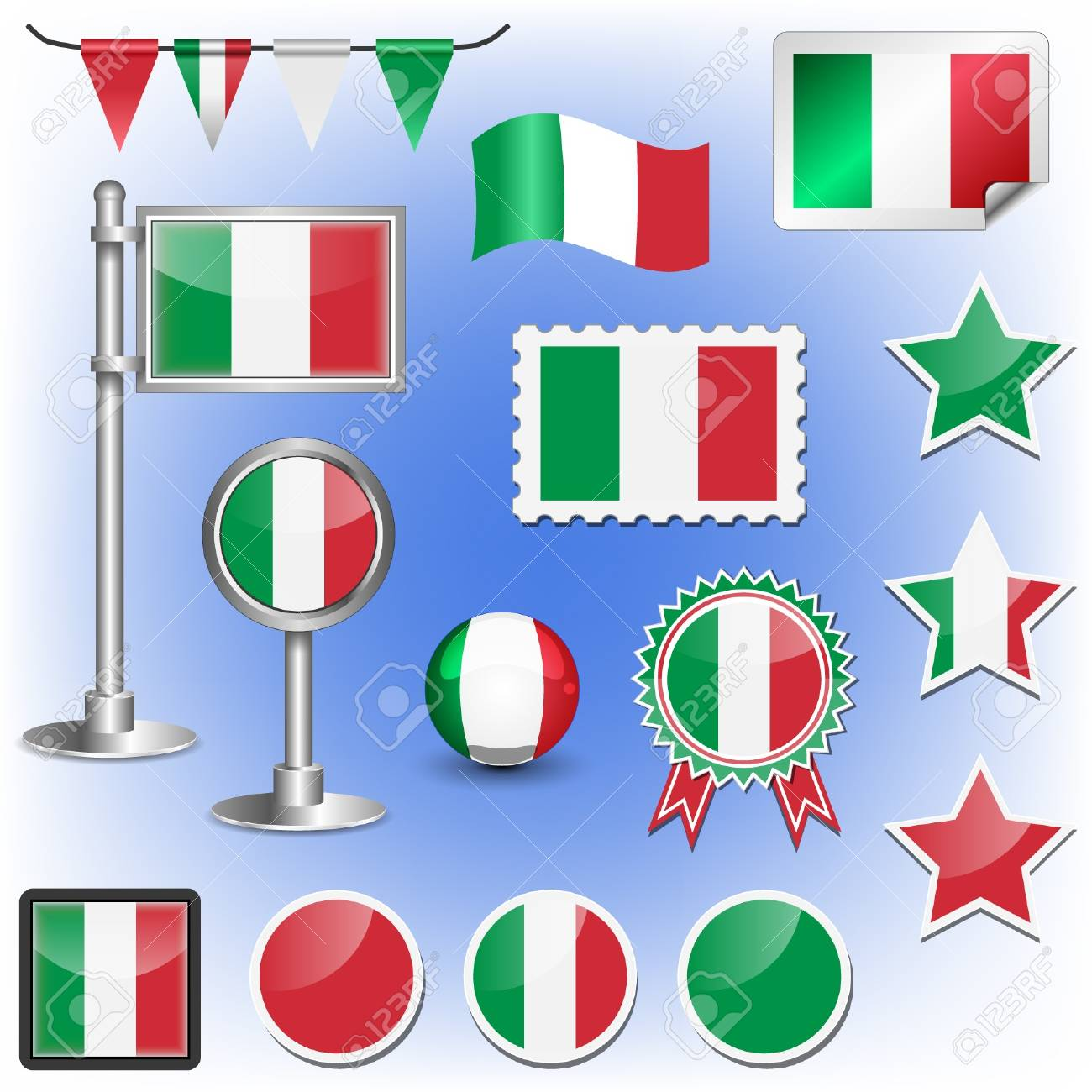 italian flag Stock Vector - 11660013