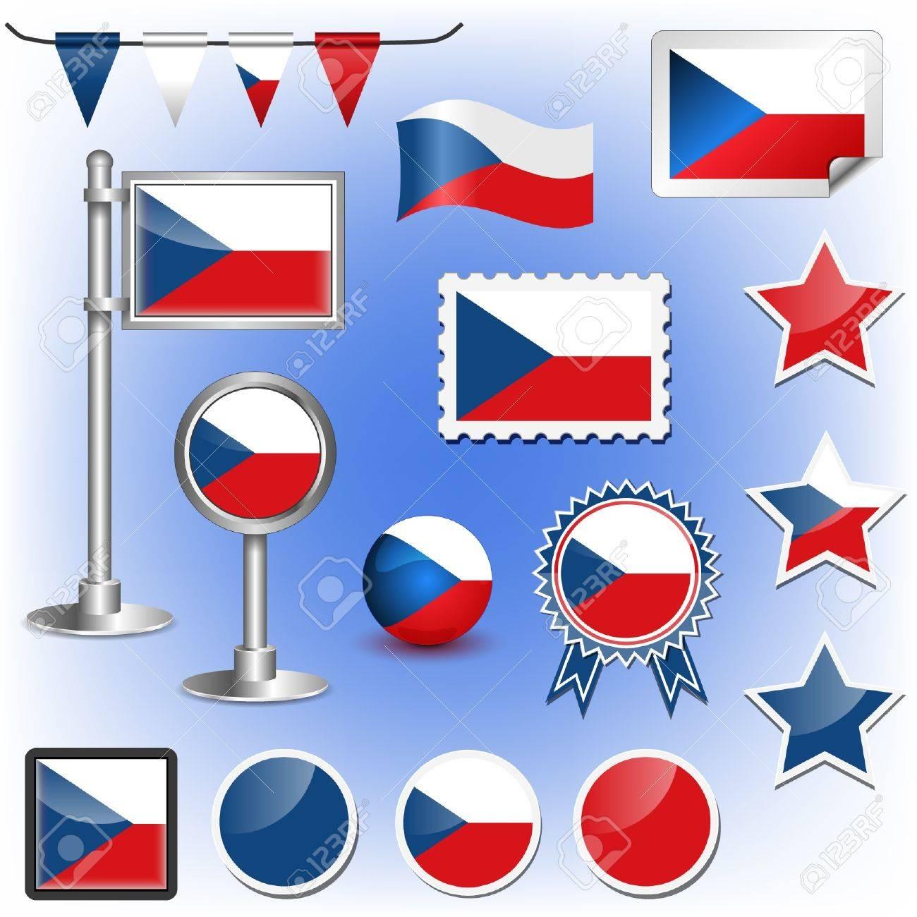 flag of czech republic Stock Vector - 11660011