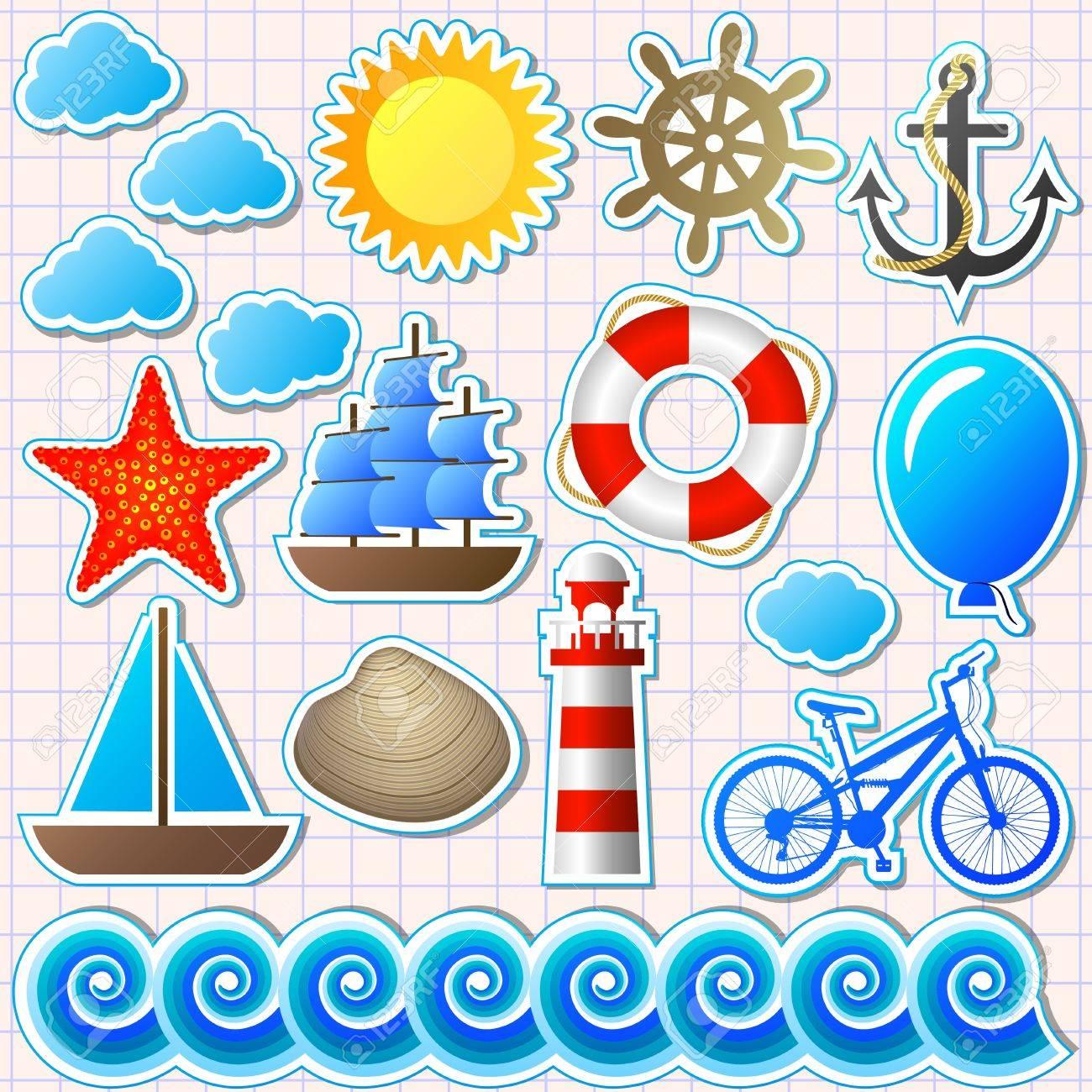 set of marine elements Stock Vector - 13718668