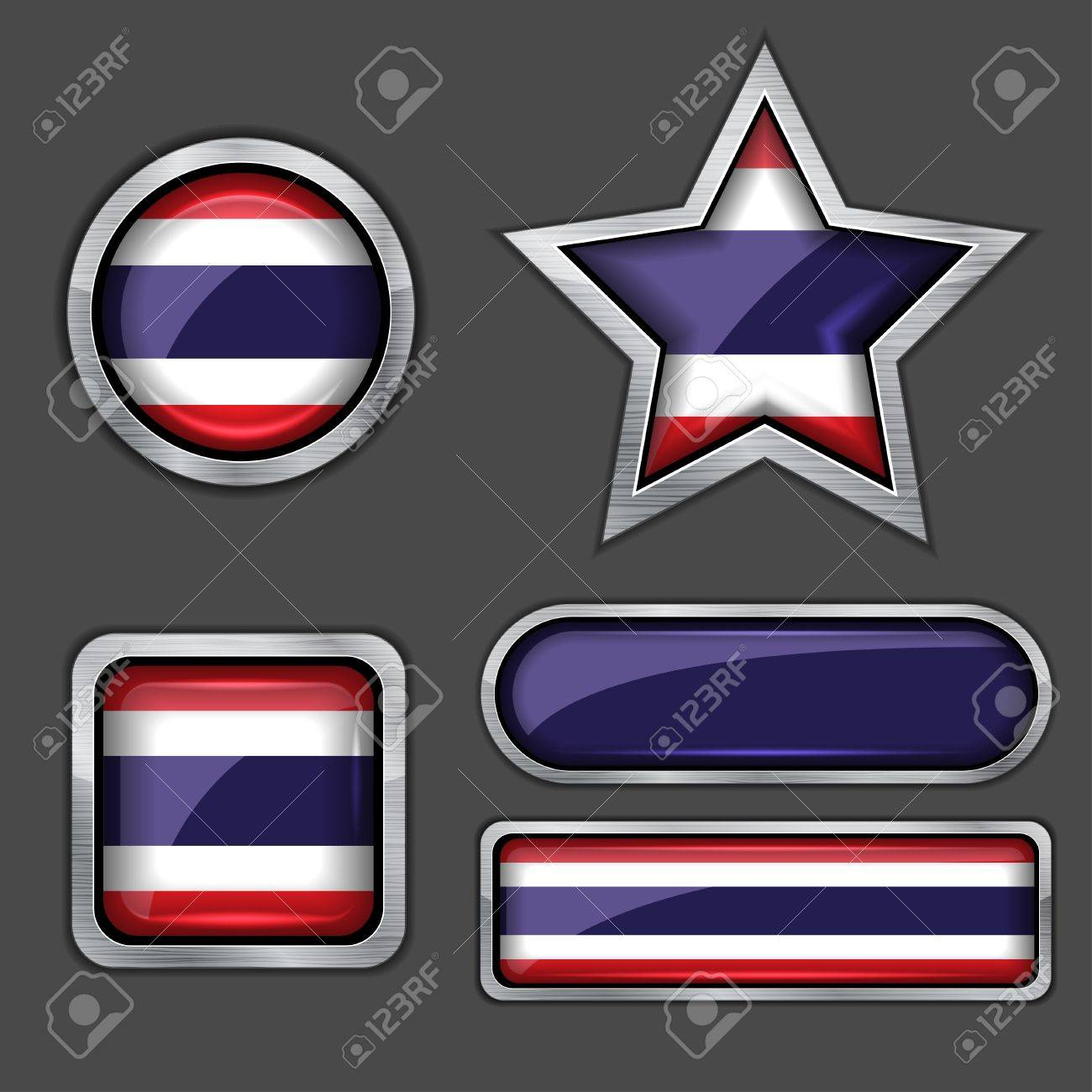 collection of thailand flag icons Stock Vector - 13799412