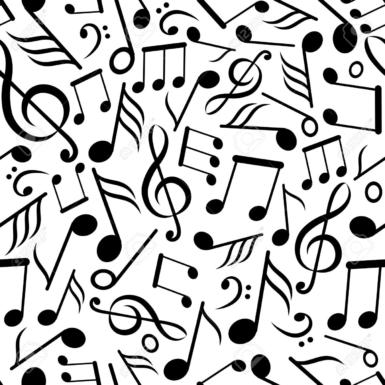 Seamless pattern with music notes royalty free cliparts vectors seamless pattern with music notes stock vector 14404757 voltagebd Gallery