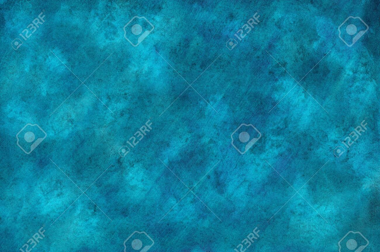 Watercolor blue background with crumpled texture - 136862757