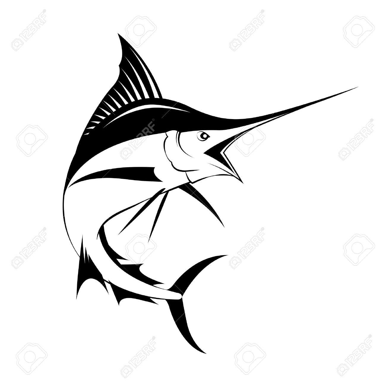 marlin fish vector royalty free cliparts vectors and stock rh 123rf com Fish Skeleton Clip Art Fish Silhouette Clip Art