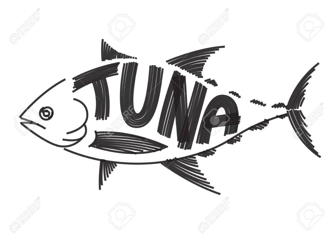 白い背景の上のクリップ アート マグロ魚 ロイヤリティフリークリップ