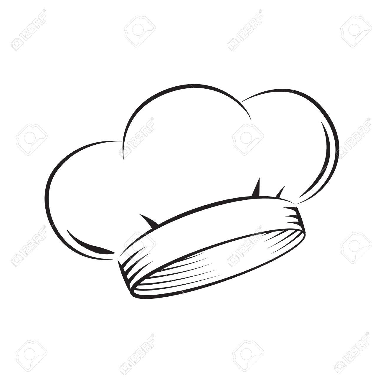 draw chef hat vector royalty free cliparts vectors and stock rh 123rf com Spoon Vector Chef Hat 2000 X 900