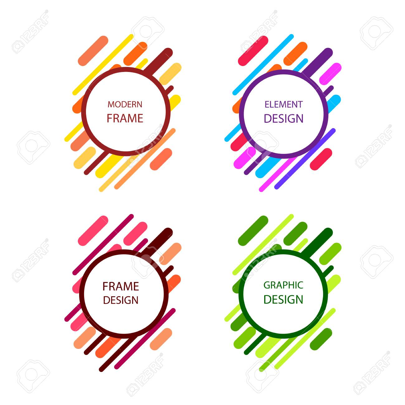 Graphic Frames On White Background, Vector Illustration. Royalty ...