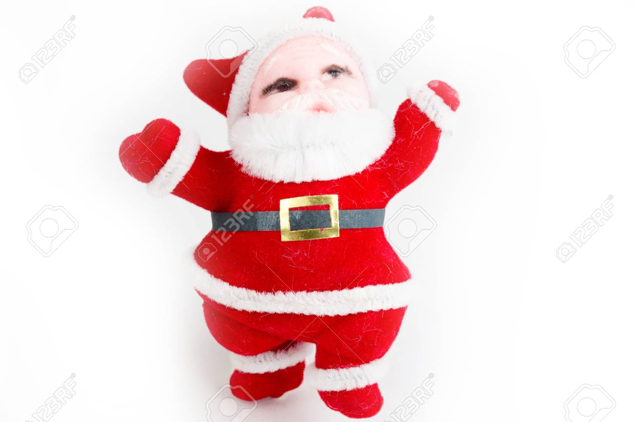 Percorso Babbo Natale.Immagini Stock Babbo Natale Isolato Su Bianco Questa E La