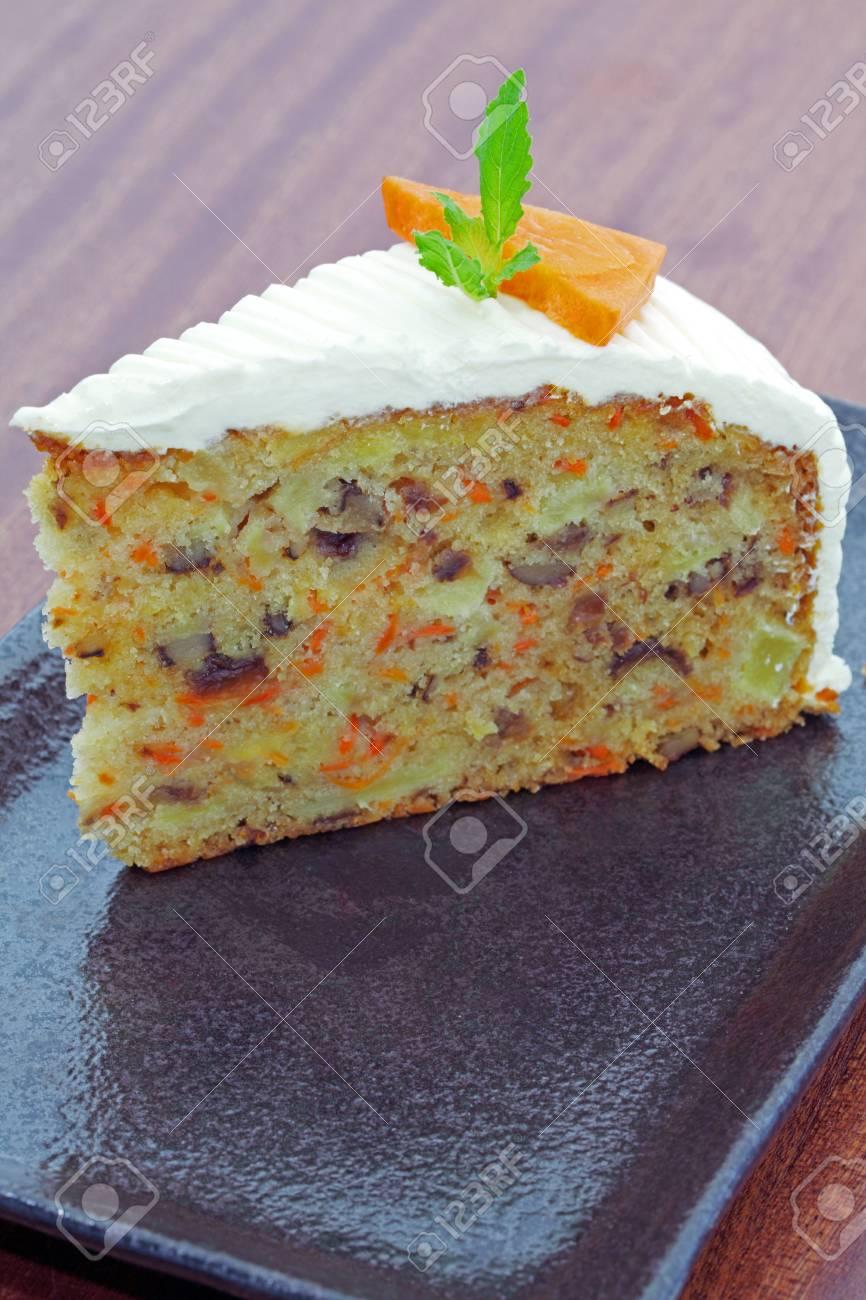 Carrot Frischkase Kuchen Lizenzfreie Fotos Bilder Und Stock