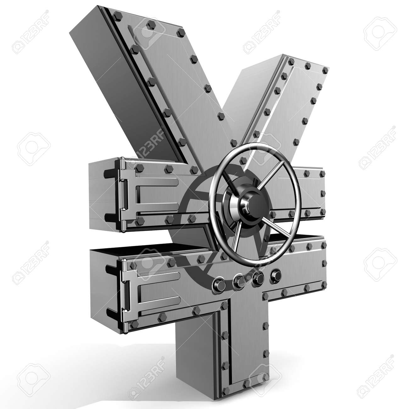 Synthesis from  yen symbol and  banking safe Stock Photo - 2940910