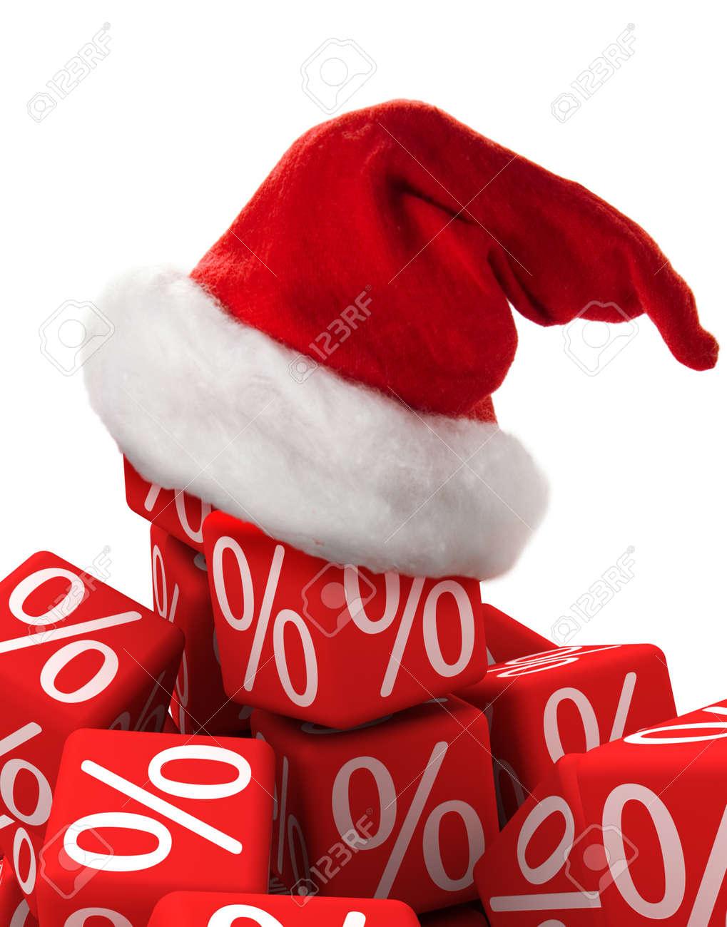 Symbol Für Weihnachten Ein Prozent Und Hat Lizenzfreie Fotos, Bilder ...