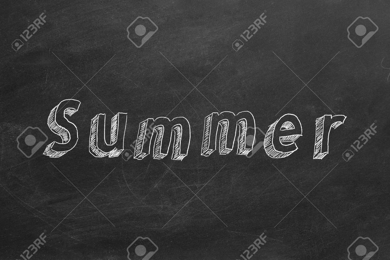 Hand Drawing And Animated Text Summer On Blackboard Stop Motion Stock Photo Picture And Royalty Free Image Image 123523766