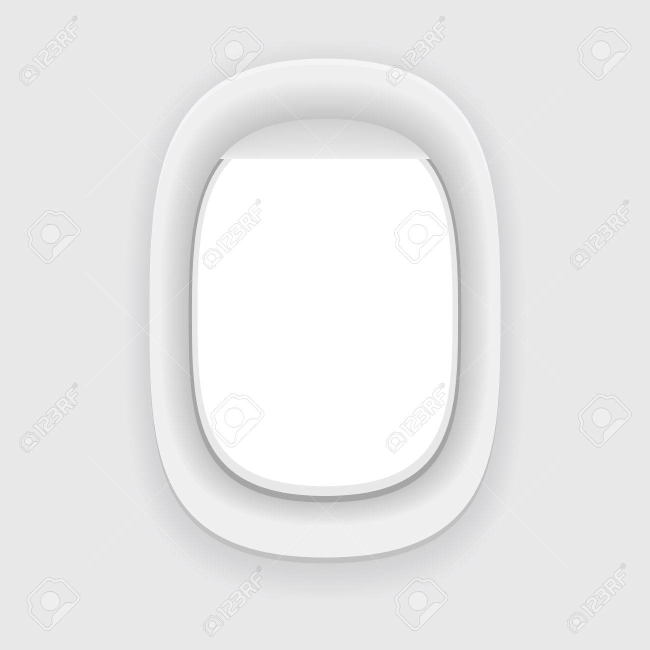 Aircraft Window Plane Porthole Isolated On White Vector