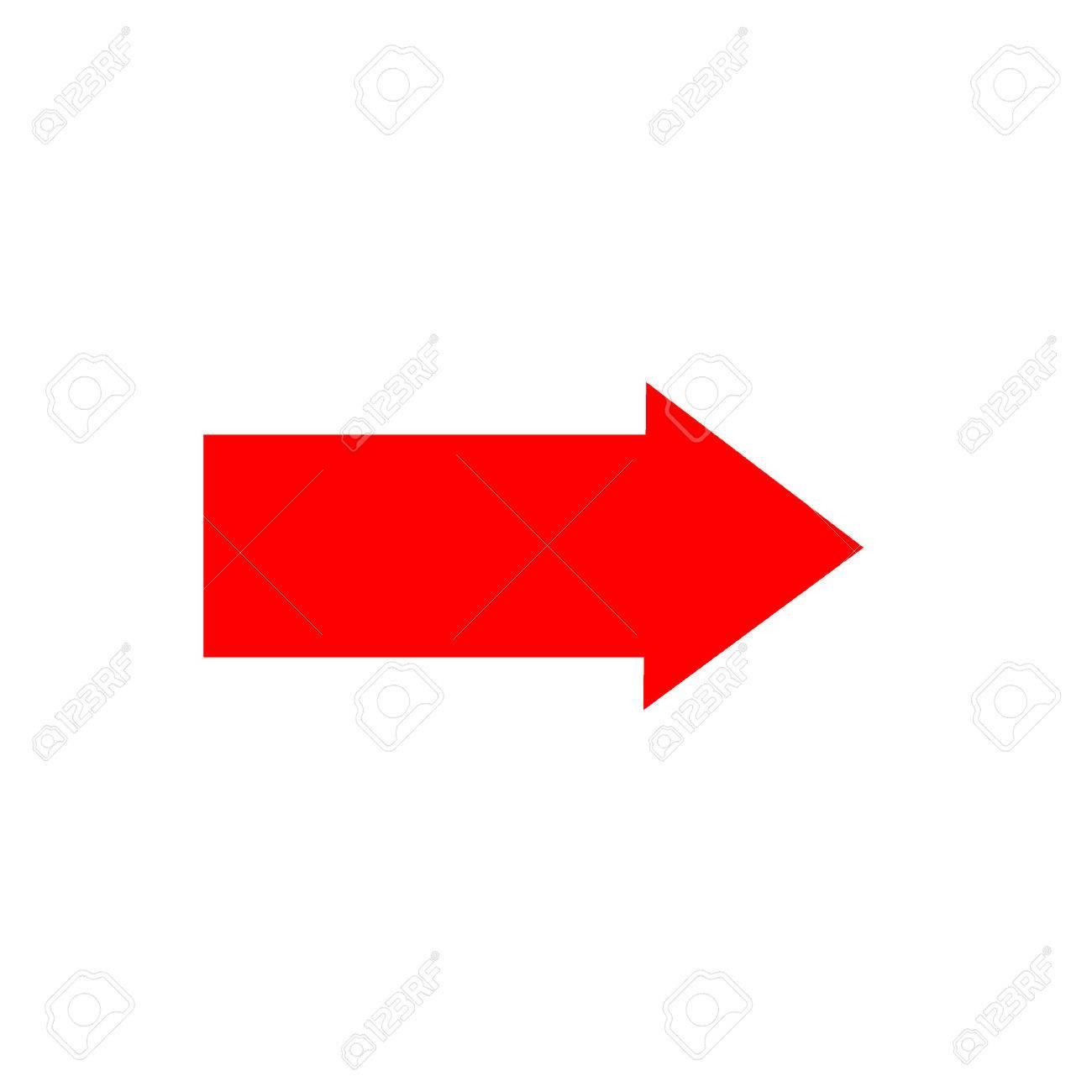 Arrow sign red icon isolated on white background .Vector to right symbol marks. Red sticker isolated on white background vector illustration. Flat vector image. Vector illustration. - 59072026