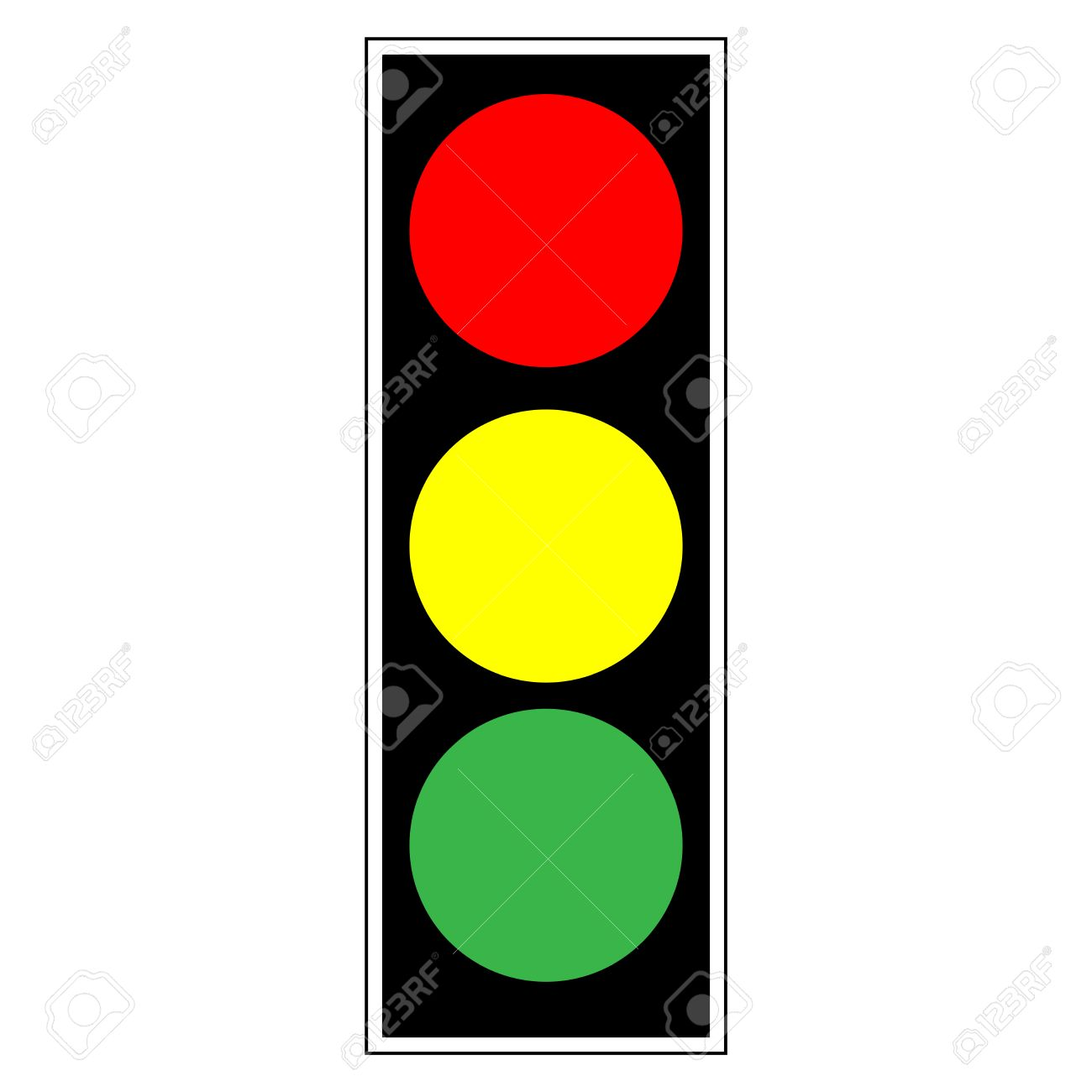 Traffic Light Sign. Icon Stoplight In Black Rectangle On White ... for Traffic Light Yellow Icon  279cpg