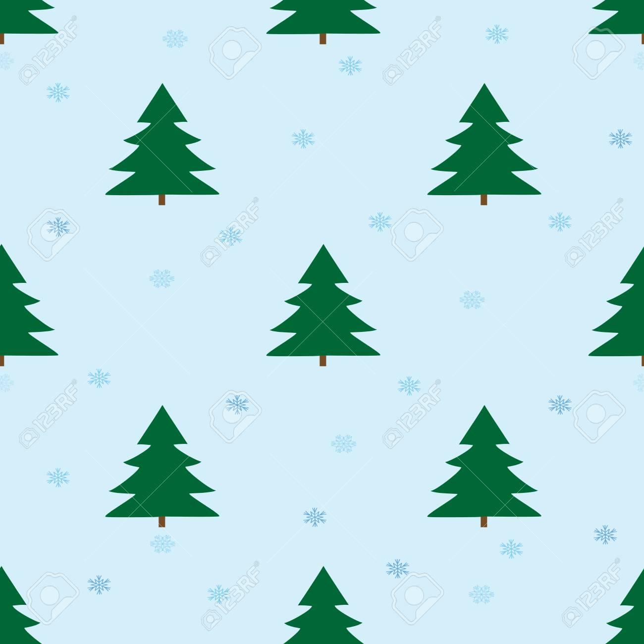 christmas tree seamless pattern. fashion graphic background design