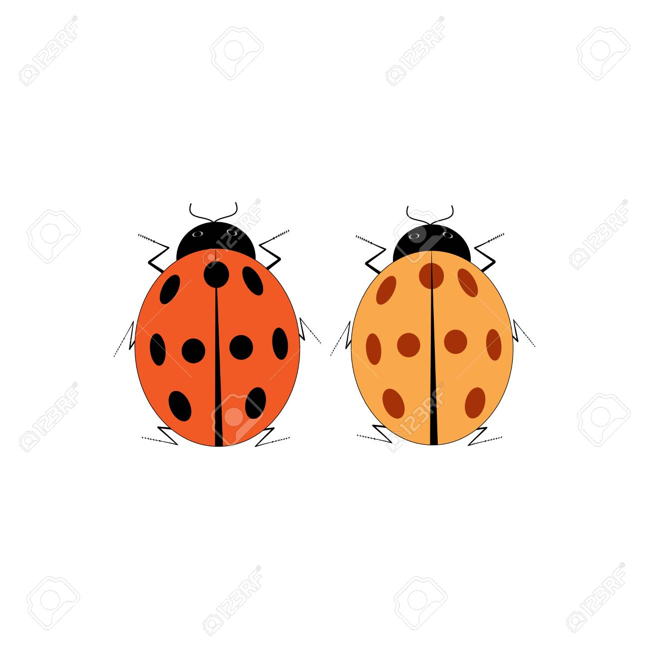 Coccinelle Symbole ladybird isolé. illustration coccinelle sur fond blanc. mignon