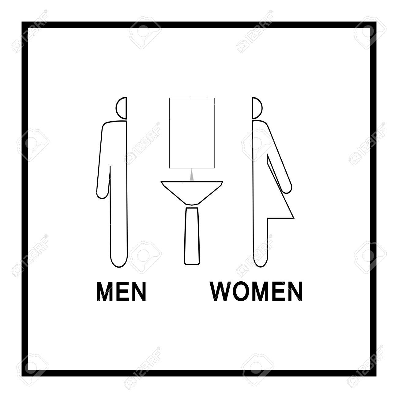Probleme Humidite Salle De Bain ~ Silhouette Hommes Et Femmes Ic Ne Sur Fond Blanc Icon Salle De Bain
