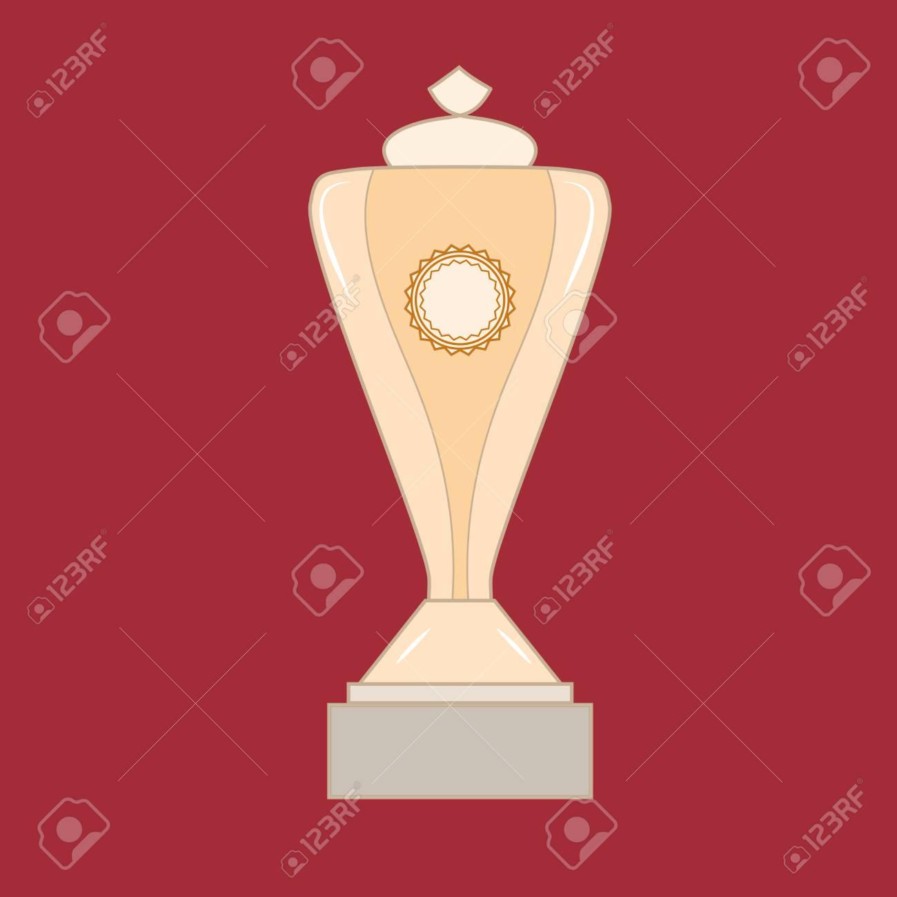 Recompensa De La Copa Aislada Símbolo Moderno De La Victoria Y El ...