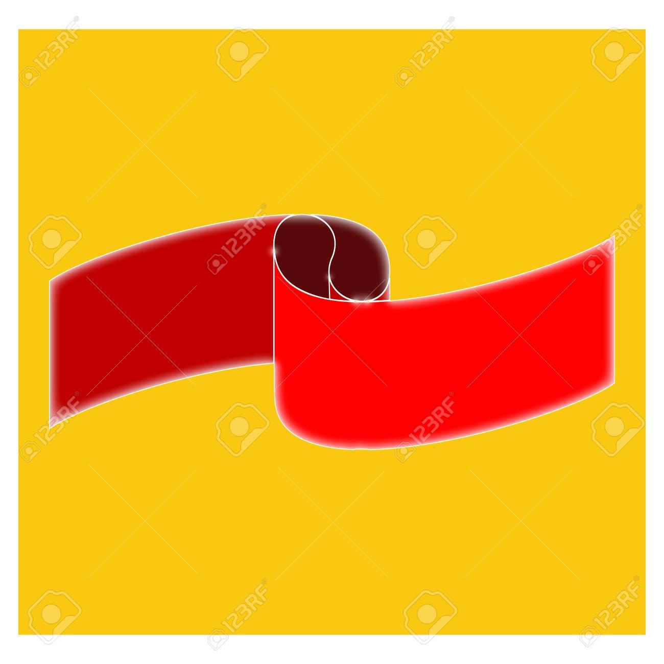 Banner Rot Auf Gelbem Platz. Modernes Symbol Des Emblems Des ...