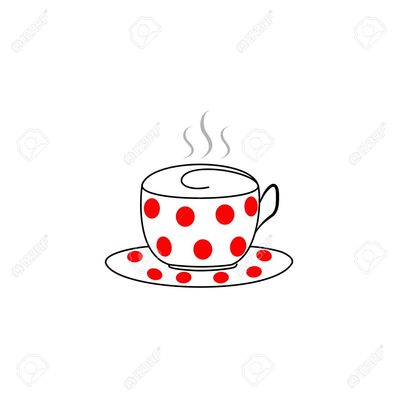 Et L'arôme Icône CaféMug Fond Sur Tasse Silhouette BoireSymbole Le De Pour BlancBol Soucoupe ThéLabel D'illustration Isolé QBChrtsdx