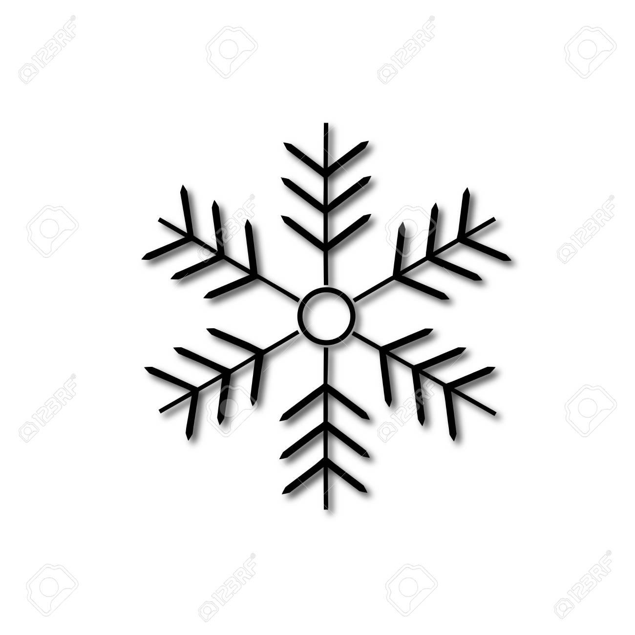 Vettoriale Segno Di Fiocco Di Neve Sagoma Fiocco Di Neve Disegno
