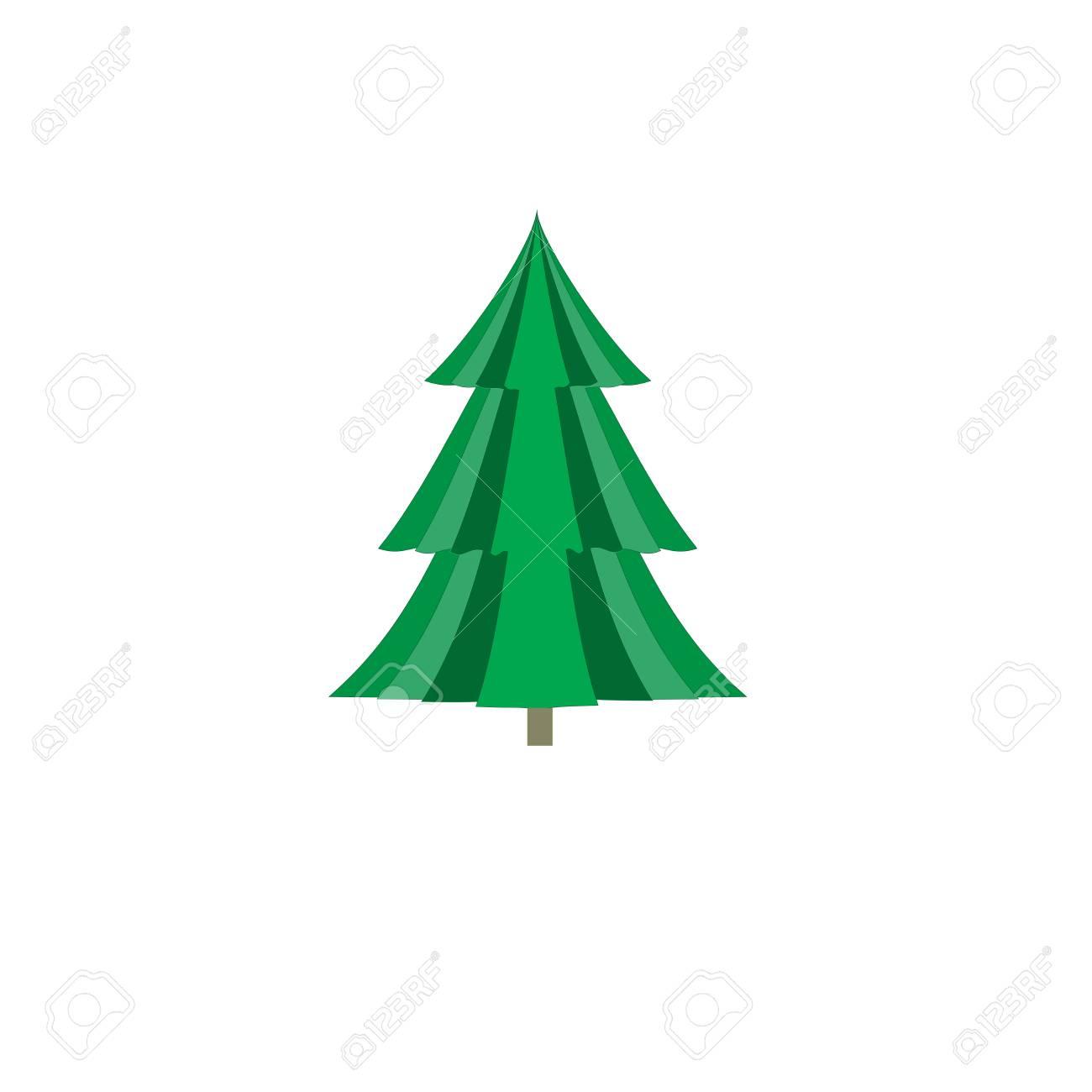 Simple Christmas Tree Original New Year Card Fashion Graphic
